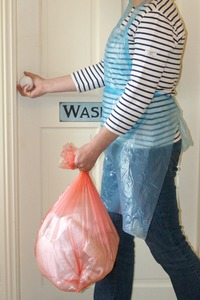 wave laundry bag and apron