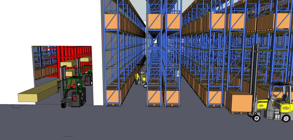 Hss warehouse planning pays off with space saved for Warehouse racking layout software free