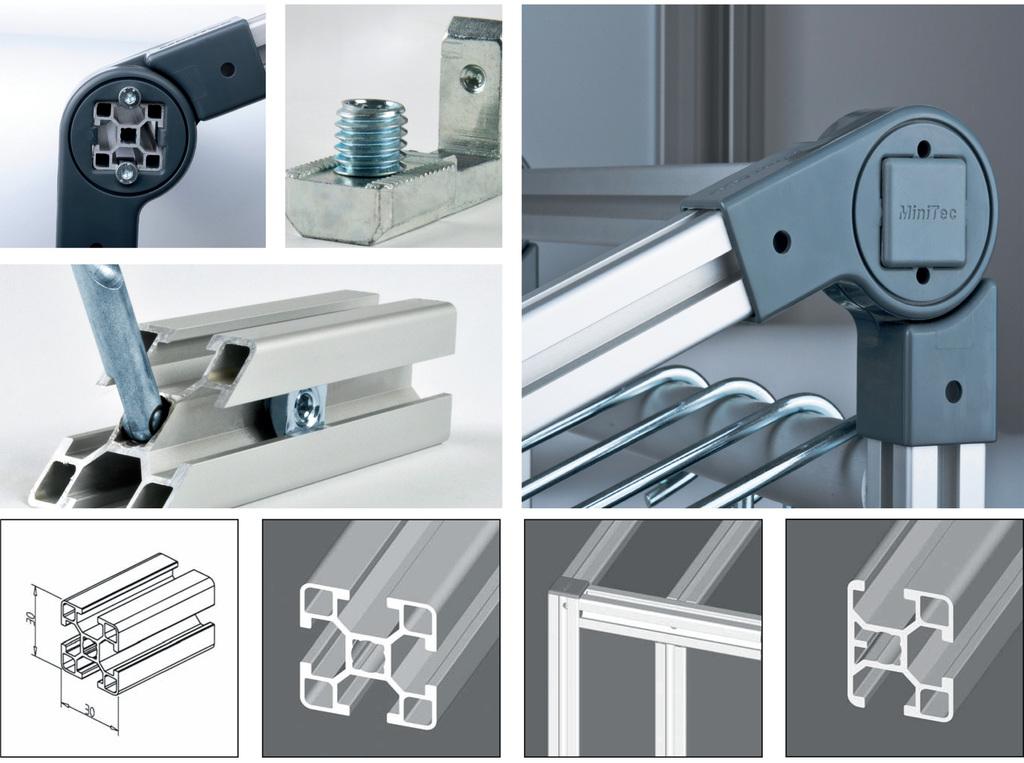 IPE - Mini framing profile with matching component range