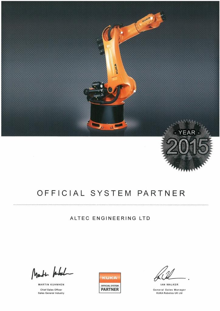 Cda Altec Achieves Kuka System Partner Status