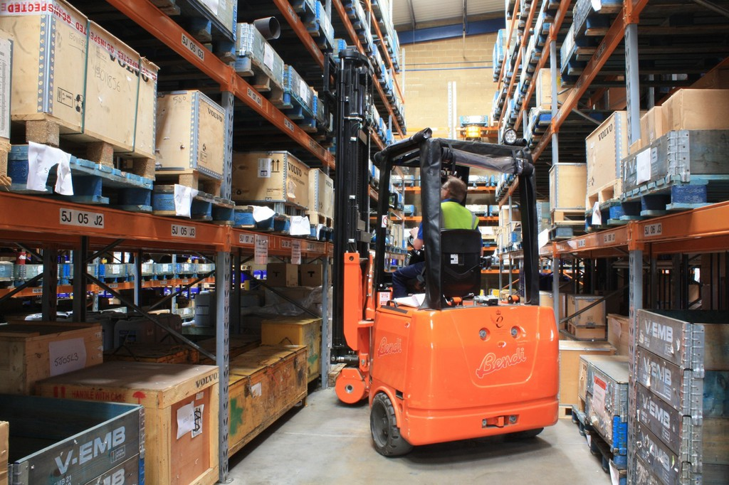 parts volvo asp warehouse reconfigures hss racking page equipment construction