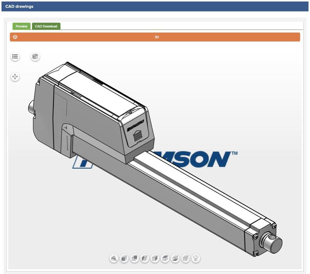 CDA - Size & select electric linear actuators online